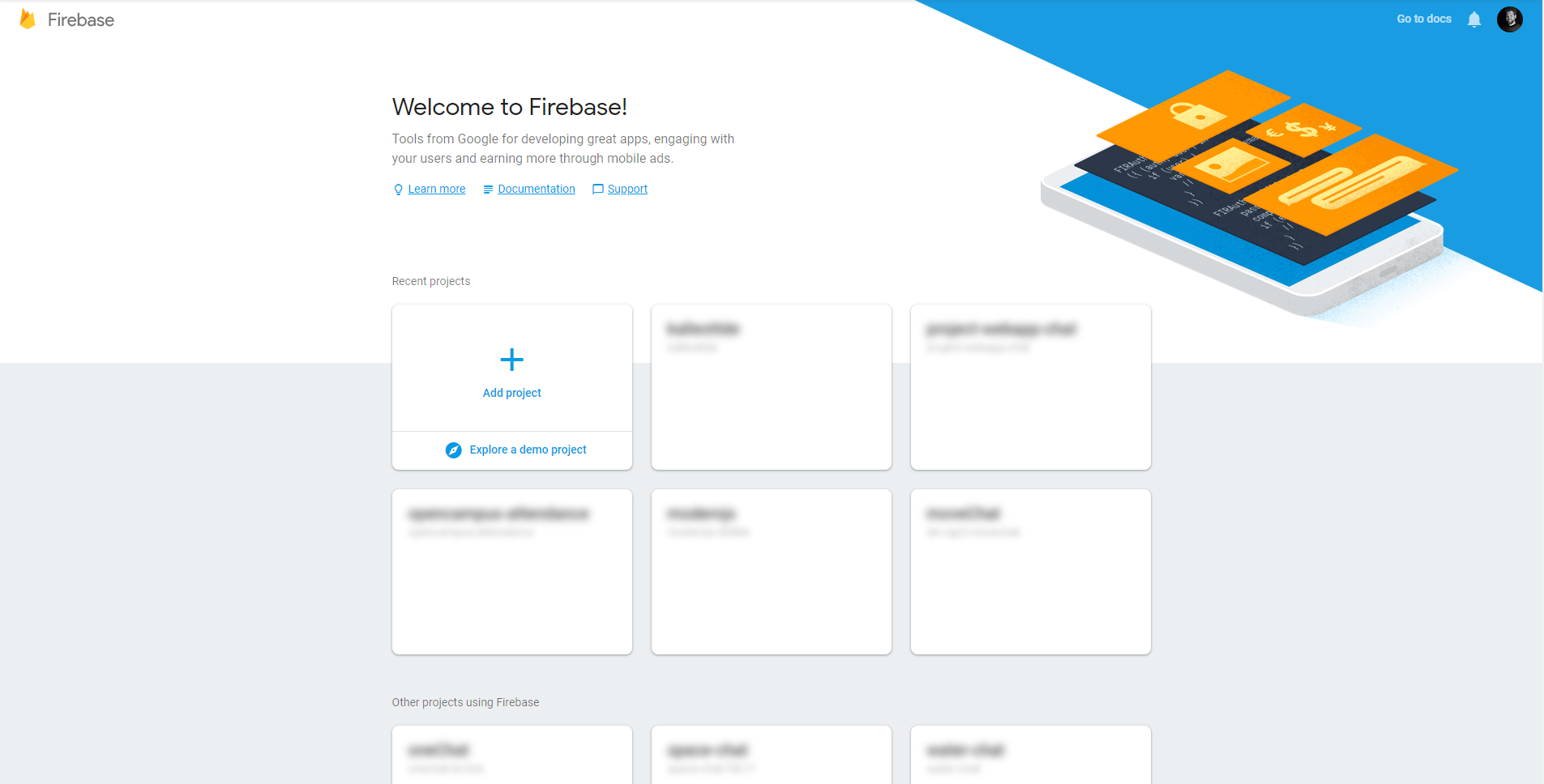firebase projects overview